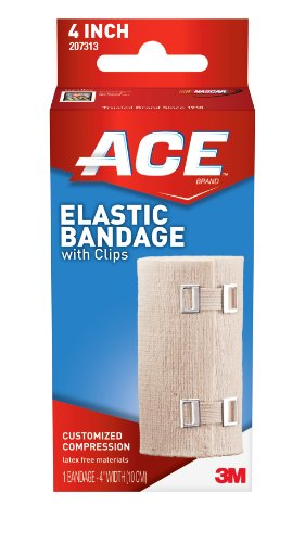 ACE Elastic Bandage with Clips, 4 Inches (Pack of 2) ()