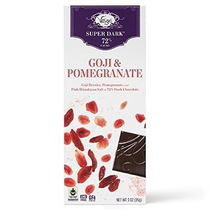 Amazon.com : Vosges Haut-Chocolat Super Dark Pomegrante and Goji, Pack of 2, 3oz Bars : Grocery & Gourmet Food