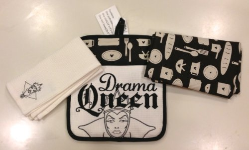 Disney Park Wicked Drama Queen from Snow White Kitchen Towels Potholder Set NEW (Queen From Snow White)