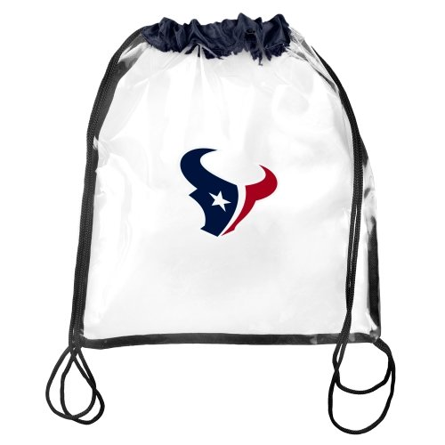 FOCO Houston Texans Clear Drawstring Backpack