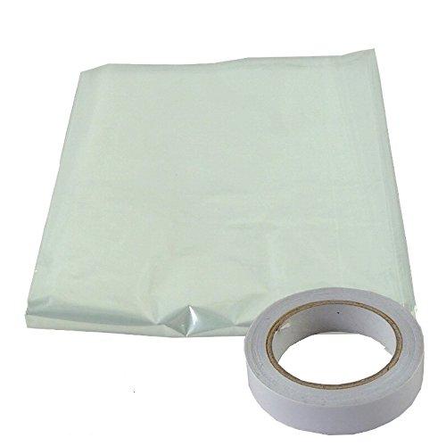 Bulk Hardware bh04946 aislante acristalamiento de pelí cula se enví a con cinta adhesiva de doble cara, 3 x 1,5 m), color blanco 3x 1 5m)
