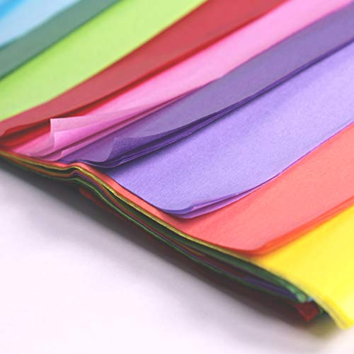 50 X Multi Coloured Tissue Paper Gift Wrap Wrapping