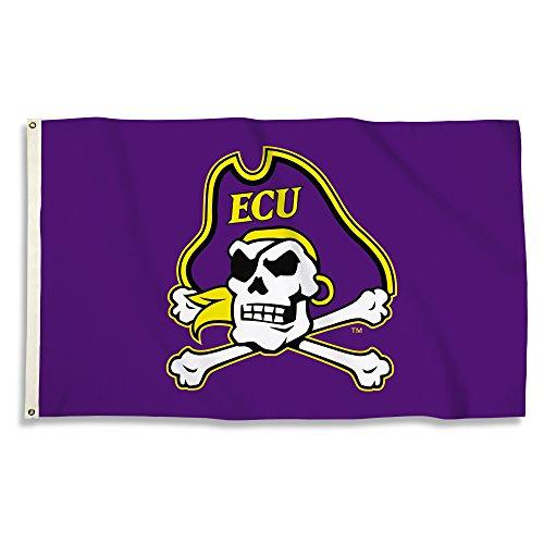 NCAA East Carolina Pirates Flag with Grommets, Purple, /3' x 5'