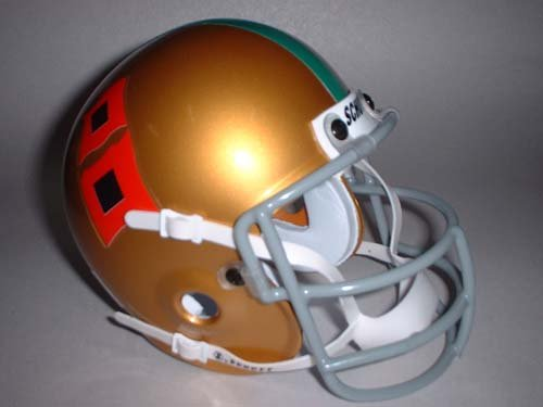 Schutt 1967 Miami Hurricanes Throwback Mini Helmet