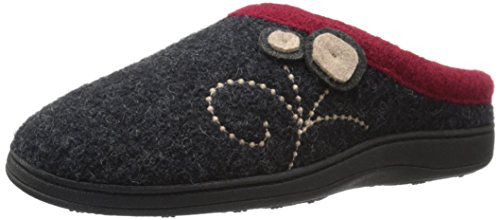 Acorn Women's Dara Slipper, Charcoal Button, Small/5-6 M US