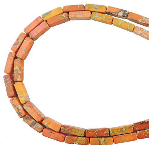 (COIRIS 1 Strand 13x4MM Natural Rectangle Tube Shape Stone Loose Beads Imperial Jasper for Jewelry Making DIY Design (ZS-1185))