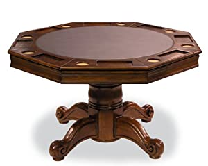 Executive Poker Table With Reversible Dining Top
