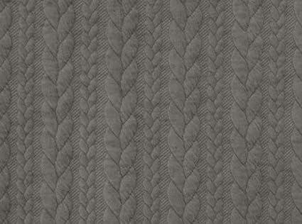 Zopf Strick Baumwollstoff 0,5 m 100/% Baumwolle Strickstoff Meterware Winterstoff