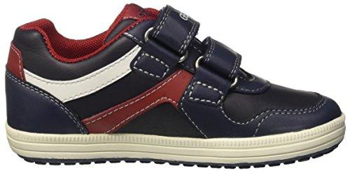 Geox Jr Vita a, Zapatillas para Niños Azul (Navy/redc0735)