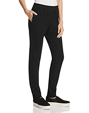 Womens Solid Casual Fit Casual Pants