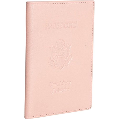 Royce Leather Passport Holder and Travel Document Organizer in Leather, Light Pink 3