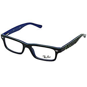 Ray Ban Junior RY1535 Eyeglasses-3600 Top Dark Gray On Blue-48mm