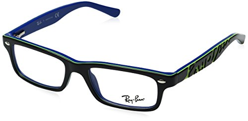 Ray Ban Junior RY1535 Eyeglasses-3600 Top Dark Gray On Blue-48mm ()