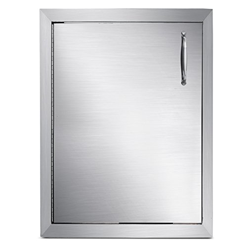 """Mophorn Outdoor Kitchen Access Door 16""""x 22"""" Single Wall Construction Stainless Steel Flush Mount for BBQ Island, 16inch x 22inch,"""