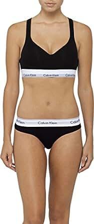 Calvin Klein Women's Modern Cotton Crop Bra, Black, S