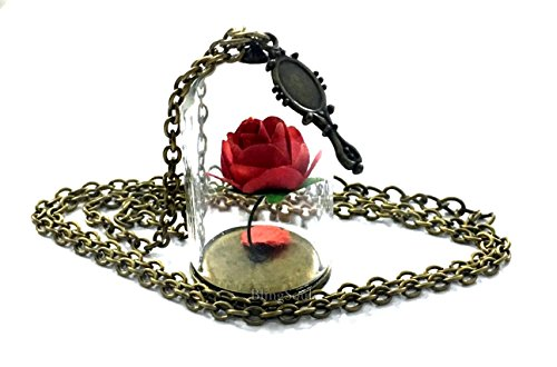 Glasses Costumes Ideas With (Beauty and the Beast Necklace Rose Pendant - Emma Watson Belle Jewelry for)