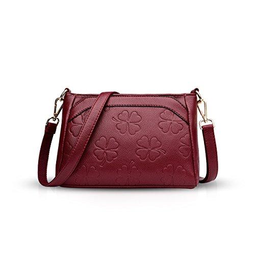 Pelle Vino Crossbody Modello Pu Cinghia Messenger Borsa Lunga Tracolla Rosso Fiore In Nicole amp; A Borse Doris Donna rqRrxaBwP