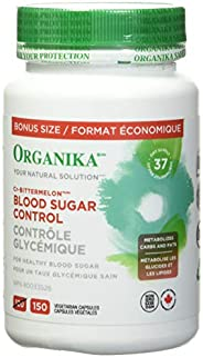 Organika Blood Sugar Control Bonus Size- Chromium and Bitter Melon, 150 vcaps