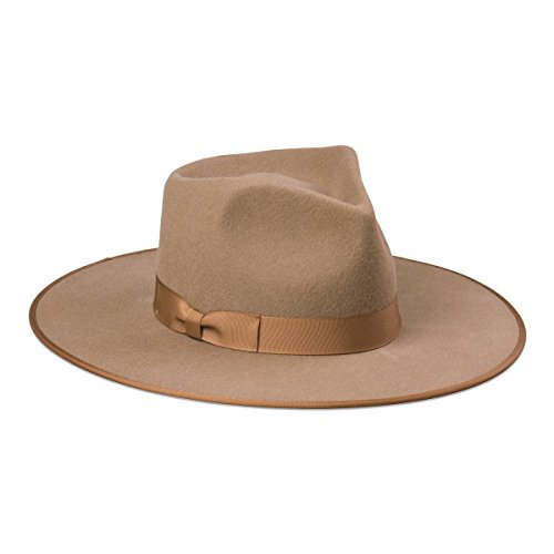 Lack of Color Women's Teak Rancher Wool Felt Fedora Light Brown MD (57cm) by Lack of Color