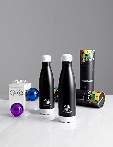 17 Oz Black TIANXI VERTAST Vacuum Insulated Stainless Steel Coffee Bottle Water Bottle