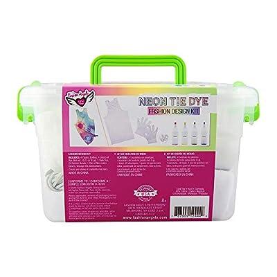 Fashion Angels Neon Tie Dye Tank Top Kit (12444) Tie Dye Caddy Set,Multi: Toys & Games