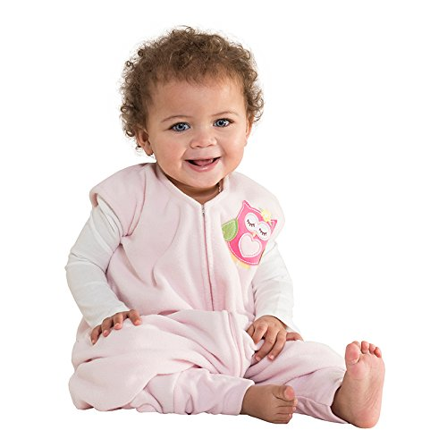 HALO Early Walker SleepSack Micro Fleece Wearable Blanket Pink, Large