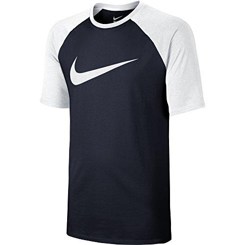Nike Men's Sportswear Raglan Obsidian/White/White Medium