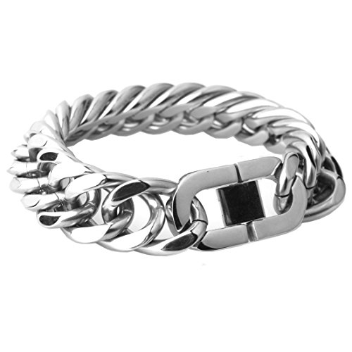 Heavy Huge 21mm Stainless Steel Men's Jewelry Curb Cuban Chain Necklace 8