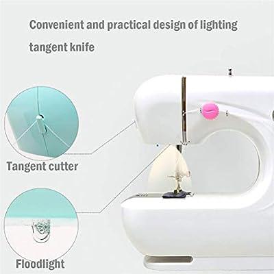 Dbtxwd Mini máquina de Coser eléctrica para Ropa de Tela DIY Niños ...