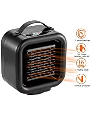 COMLIFE Compatible/Replacement for 1800W/900W Ceramic Space Heater Personal Heater with Remote Control,Over-Heat and Tilt Protection for Office and Home Use COMLIFE QN13
