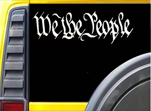 We the people vinyl 2a second amendment (6X18) LARGE DECAL STICKER *C511* (People Decal)
