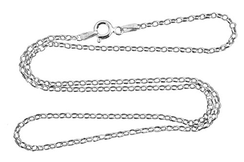 Sterling Silver 2.1mm Rolo Chain Necklace 925 Italy 030 - 16, 18, 20, 24 Inches (Rollo Chain Sterling Silver)