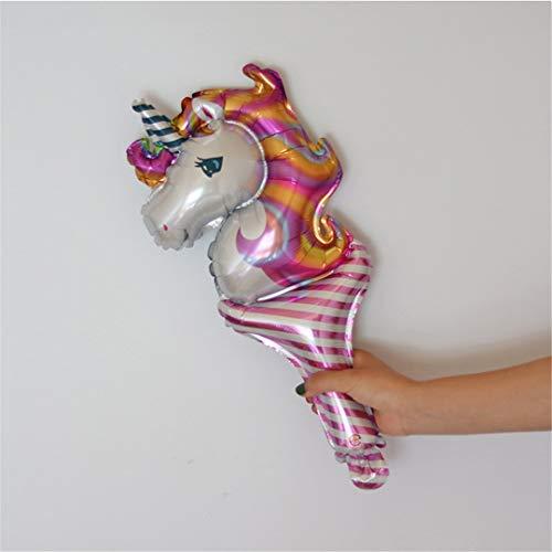 FOIBALDECO 1Pc Rainbow Unicorn Aluminum Foil Balloon Birthday Party Decorations Balloons Wedding Baby Shower 13 ()