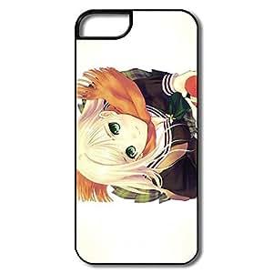Alice7 Anime Smiling Girl Case For Iphone 5,Geek Iphone 5 Case wangjiang maoyi