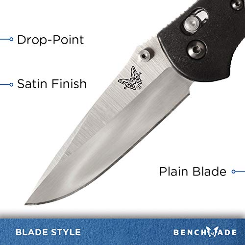 Benchmade - Griptilian 551 Knife with CPM-S30V Steel, Drop-Point Blade, Plain Edge, Satin Finish, Black Handle by Benchmade (Image #7)