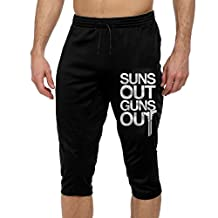 Men's Men Casual Sports Pants Suns Out Guns Out 3/4 Jogger Pants With Two Side Pockets