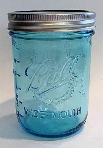 Ball Mason Jar-16 oz. Aqua Blue Glass Wide Mouth