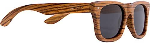 WOODIES Full Zebra Wood Sunglasses