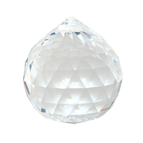 Waner 30mm Clear Crystal Ball Prisms Pendant Feng Shui Crystal for Positive Energy