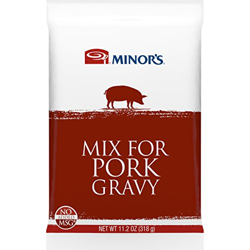 Minor's Pork Gravy Mix, Instant Gravy, Just Add Water, Bulk and Foodservice Use, 11.2 oz. Packet