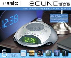 HoMedics SS-4000 Sound Spa Classic Deluxe Clock Radio & Sound Machine with Time Projection