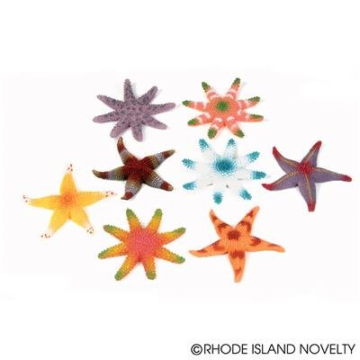 (24) Assorted Colorful STARFISH ~ 2DZ Luau Party FAVORS Decor ~ Beach Wedding Birthday Hawaiian Favors ~ Table Decoration ~ Summer Under the Sea Fun Gift ~ 3'' Starfish New ~ TOY (Luau Rubber)