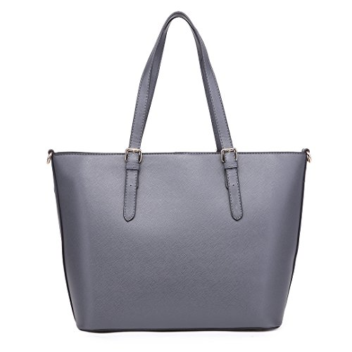 Grey Shoulder Adjustable Miss Handle Lulu Tote Leather Faux Women Hobo Bag Large 1740 Bags Handbag Yg6nfYr