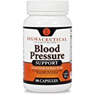 Premium Blood Pressure Support Formula - High Blood Pressure Supplement w/Vitamins, Hawthorn Extract, Olive Leaf, Garlic Extract & Hibiscus Supplement Reducing Blood Pressure Naturally - 90 Capsules