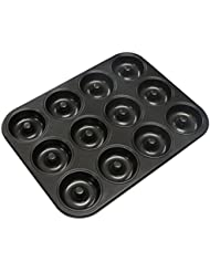 Webake Extra Thick Donut Pan 12-cavity 2.8 Non-stick Medium Size (Donut pan)