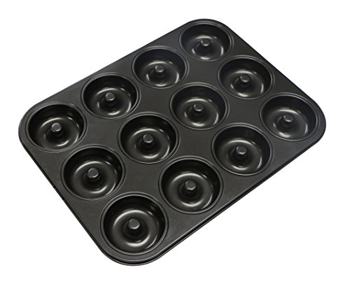 Webake Extra Thick Donut Pan 12-cavity 2.8'' Non-stick Medium Size (Donut pan) by Webake
