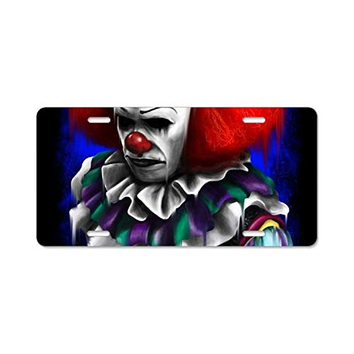 YEX Clown Time License Plate Frame with 4 Holes Novelty Car Licence Plate Covers Auto Tag Holder Tag Sign 12