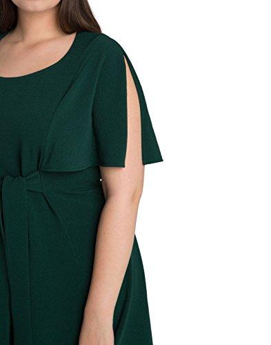 Kiyonna Women's Plus Size Estella Tie Dress 4X Green Ivy