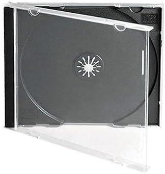 Estuche para CD o DVD, marca Dragon Trading® de 10,4 mm, capacidad para 1 disco, con bandeja transparente (5 unidades): Amazon.es: Electrónica