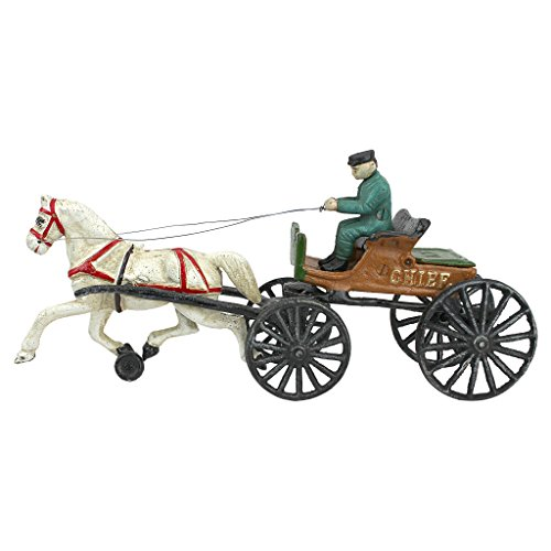 Design Toscano Style cast Iron Horse Vintage-StyleHorse Drawn Police Chief Patrol Wagon, Multi/Color by Design Toscano (Image #1)